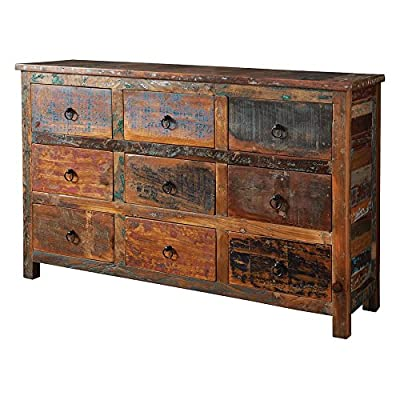 Coaster Furniture Reclaimed Wood Decorative Chest - Dimensions: 56W x 16D x 36H in. Reclaimed acacia and teak wood Golden brown with traces of removed paint - sideboards-buffets, kitchen-dining-room-furniture, kitchen-dining-room - 51ipb7NPvhL. SS400  -
