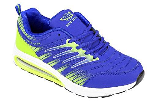gibra - Zapatillas de Material Sintético para hombre Azul - azul/verde fluorescente