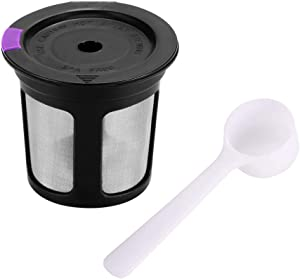 Coffee Dripper 1pc Coffee Capsule + 1 pc Spoon Refillable Reusable K-cup Filter for 2.0 & 1.0 Brewers K cup Reusable