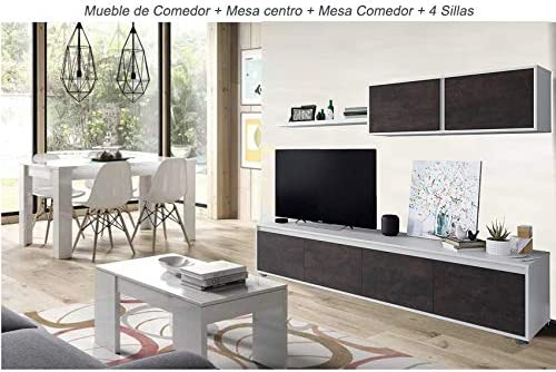 HABITMOBEL Conjunto Salon Comedor Completo; Mesa Comedor y 4 ...