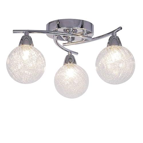 3 bulb light fixture vintage aurolite bolla modern lights led semi flush ceiling light polished chrome globe shaped bulb lights amazoncouk