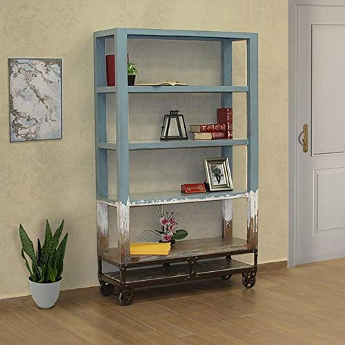 Crafters and Weavers Harbor Multi-Color Forged Iron Base Bookcase - 70