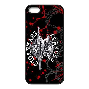 Customize Generic Rubber Material Phone Cover Avenged Sevenfold A7X Back Case Suitable For iPhone 5 iPhone 5s