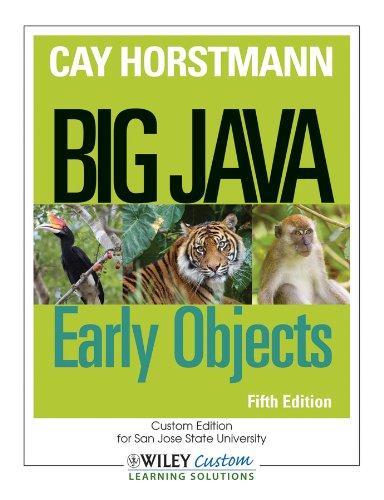 Big Java: Early Objects by Horstmann Cay S