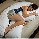 2.7 m Grande Cuscino a Forma di U Full Body Support/Ultimate Support U Pillow/Snuggle Up Body Pillow/Forma Full Body e Sostegno per la Schiena in Gravidanza/Not Pillow Case Incluso
