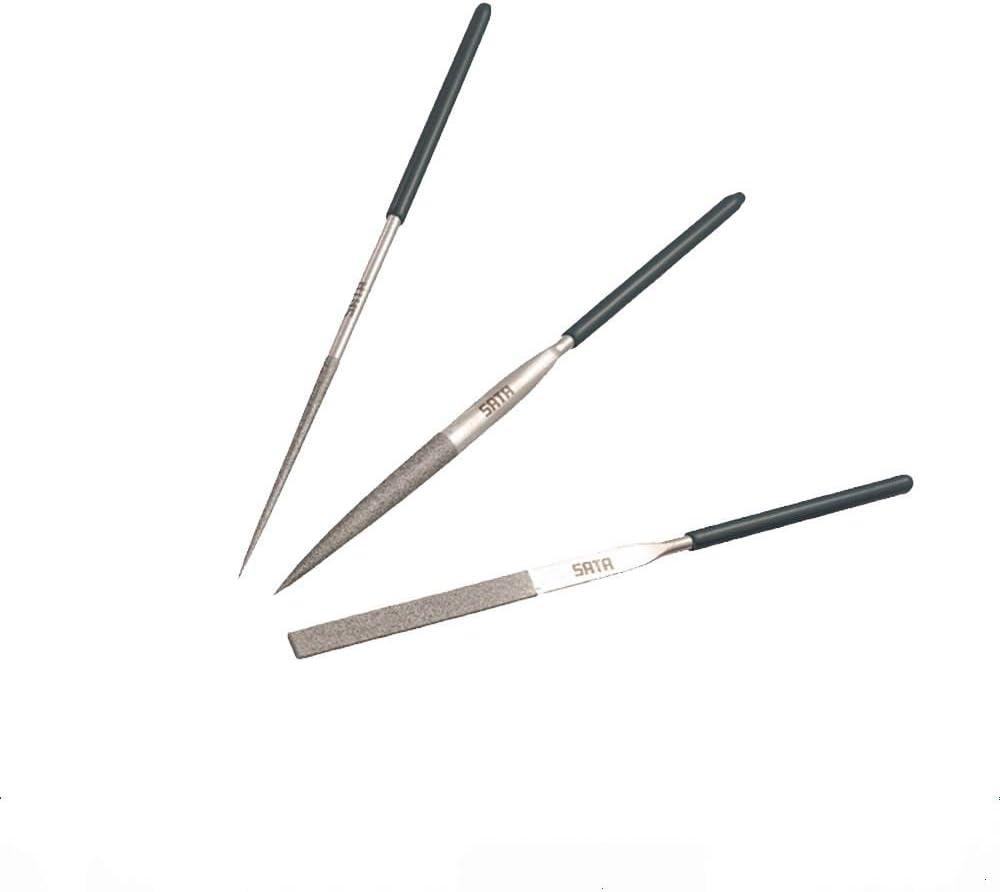 SATA 03860 - Juego de 3 limas de diamante (3 x 140 mm): Amazon.es: Bricolaje y herramientas