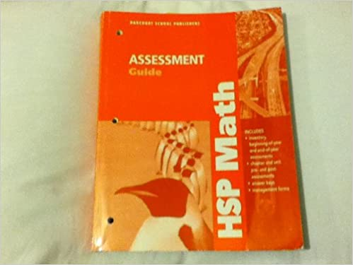 HSP Math Assessment Guide Grade 5 Harcourt 9780153568268