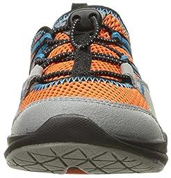Teva Scamper Trail Shoe (Little Kid/Big Kid), Grey/Orange/Blue, 3 M US Little Kid