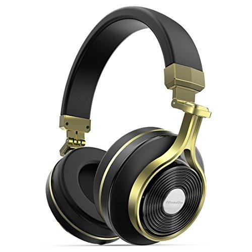 Amazon #LightningDeal 97% claimed: Bluedio T3 (Turbine 3rd) Extra Bass Wireless Bluetooth 4.1 Stereo Headphones (Gold)