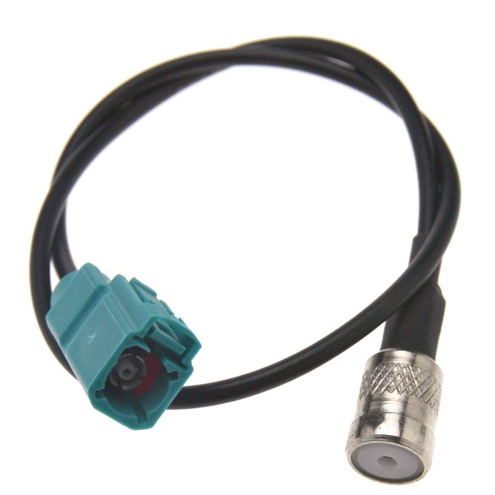 Compatible with Audi Stereo Fakra Female to ISO Female Antenna Adapter Cable