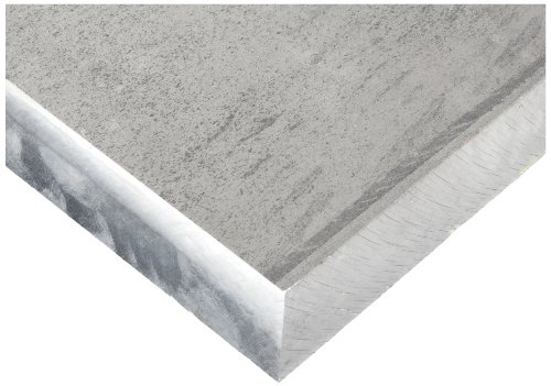 Magnesium Sheet, Unpolished (Mill) Finish, H24 Temper, AMS QQ-M-44B, 1'' Thickness, 12'' Width, 12'' Length by Small Parts