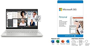 HP Pavilion 15-inch Laptop, Intel Core i7 plus Microsoft 365 Personal 12 Month, Auto-renewing Subscription
