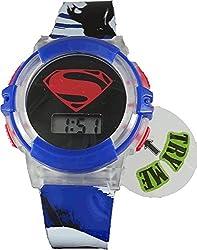 Batman v. Superman Kid's LCD Flashing Lights Watch (BVS4032)