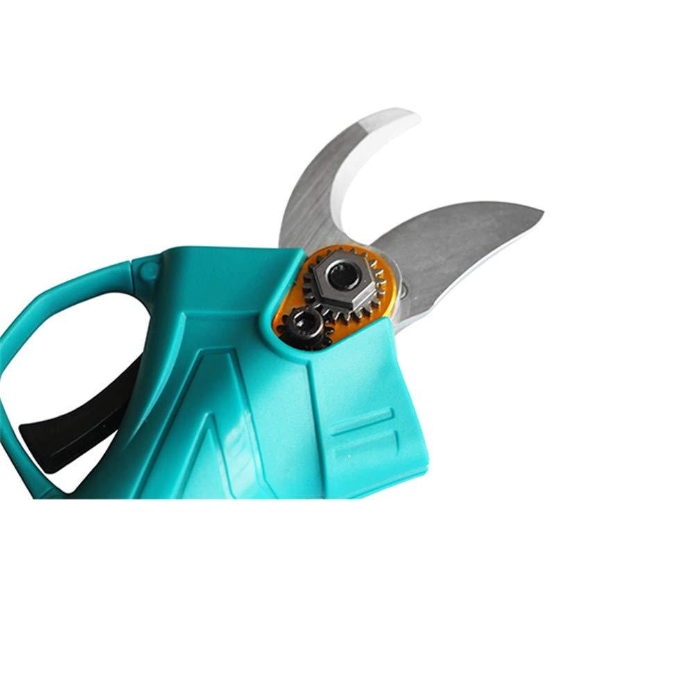 podadora de Rama de /árbol El/éctrica Di/ámetro de corte de 25mm 2 Paquete Bater/ías de Litio Recargables de 2Ah Tijeras de Podar El/éctricas Profesional Ultraligero y Dise/ño equilibrado /único,Naranja