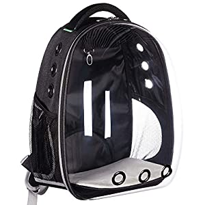 LEMONDA Creative Transparent Pet Backpack Carrier Breathable Capsule Traveler Airline Approved for Cats and Dogs 3