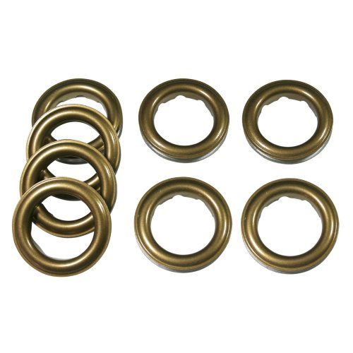 "Home Sewing Depot Fast-set Metal, 12 Grommet, 1 9/16"", 8 Grommets Total, Antique Brass"