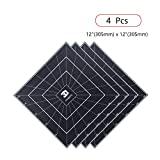 FYSETC 3D Printing Build Surface, 12'' x 12'' 3D Printing Build Plate Heat Bed Platform Sticker for 3D Printer CR-10 CR-10S Lulzbot TAZ 6 and Other Printer - Pack of 4, Black
