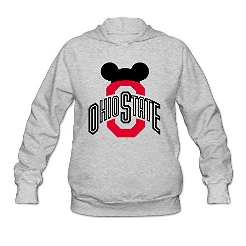[AK79 Women's Hooded Sweatshirt Ohio State Buckeyes Football Size M Ash] (Halloween Costume Ideas 50 Shades Of Grey)