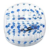 Kaluo 1.5m/1.2m Diameter Inflatable Transparent Bumper Ball Human Knocker Ball Bubble Soccer For Adults and Teenagers(US Stock) (Blue Dot 1.5m)