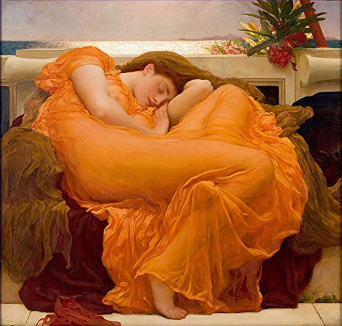 $50-$2000 Hand Painted Art Paintings by College Teachers - Flaming June Academicism Frederic Leighton Famous Oil Painting on Canvas for Wall Art Decor -Size 10 ()