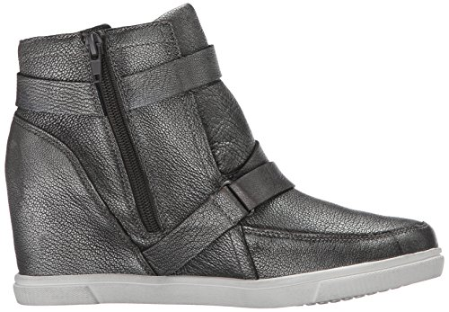 Aerosoles Womens Street Smart Boot In Pelle Color Argento Scuro