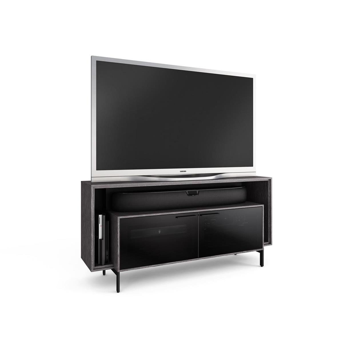 Amazon.com: BDI Cavo 8168 Double Wide TV Cabinet (Graphite): Kitchen U0026  Dining