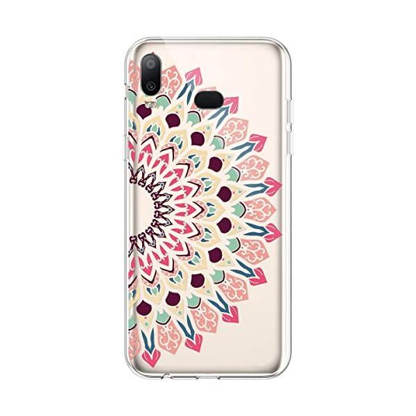 Robinsoni Cover per Samsung Galaxy A6S Cover Silicone Galaxy A6S Case Trasparente Custodia in Gomma Morbido TPU… 4 spesavip