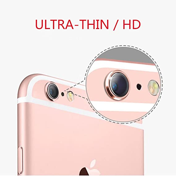 new concept 3c53f bbbef Camera Lens Protector For iPhone 6 6s Soft Tempered Glass Protective Film  Ultra Thin 0.2mm 9H Hardness Anti-Scratch Nano-adsorption