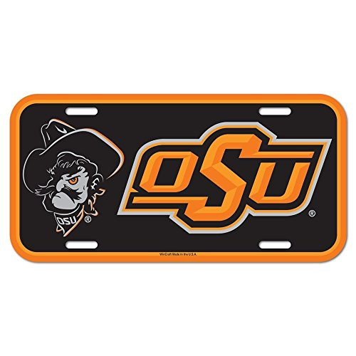 WinCraft NCAA Oklahoma State University License Plate
