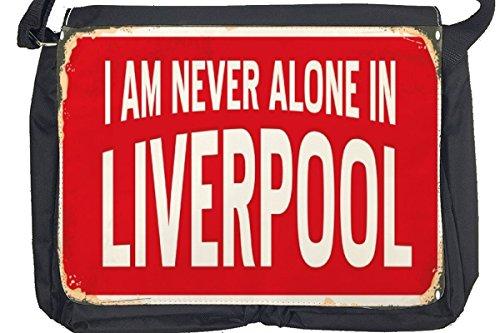 Borsa Tracolla Città Liverpool Inghilterra Stampato