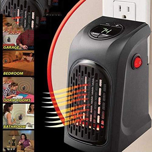 Calentador práctico, enchufe en el calentador de espacio inteligente, mini termostato calefactor eléctrico con temporizador...