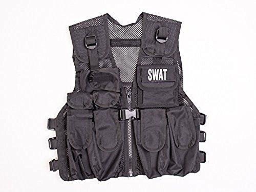 Swat Team Member Costume (KAS Kids Stealth Combat Vest, 2 Special Forces Badges, Fits Ages 5-13 yrs)