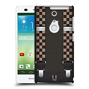 Head Case Designs Dual Chequer Suspenders Protective Snap-on Hard Back Case Cover for Fujitsu Arrows NX F-01F LTE
