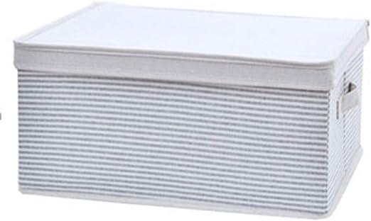 Gjrff Caja De Almacenamiento De Tela De Rayas Azul Ropa Caja De Almacenamiento Caja De Almacenamiento Plegable: Amazon.es: Hogar