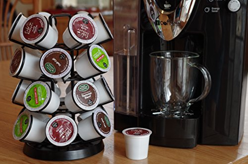 K-Cup Storage Deluxe Steel Spinning Carousel, 24 ct. Keurig, Black by Java Concepts® (Image #1)