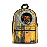 Best OXA Laptop Backpacks - Creative Dog Pattern Backpack Canvas Animal Book Bag Review