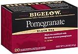 Bigelow Tea Pomegranate Black Tea, 20 Tea bags, 1.50-Ounce Boxes (Pack of 6)