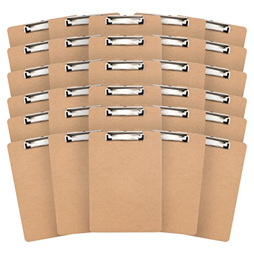 30 Hardboard Clipboards  Low Profile Clip  Designed For Classroom And Office Use  30 Clipboards