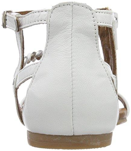 Tamaris 28043, Sandales Bride Cheville Femme Blanc (White Comb)