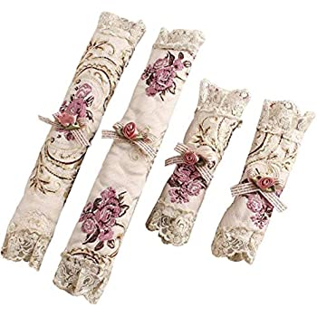 Faberry 2 Pairs Refrigerator Door Handle Covers Microwave Ovens Microwave Dishwasher Dust Door Handle Cover Kitchen Appliances Gloves (Rose)