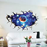 3d Smashed extraíble vista sencery adhesivo decorativo para pared