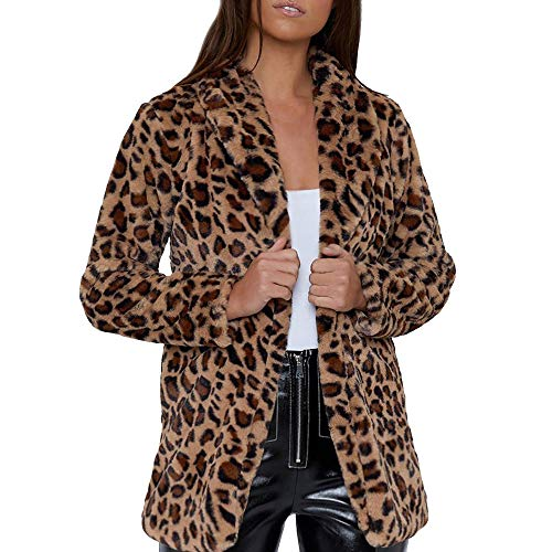 Clearanc Sales Leopard Faux Fur Jackets Winter Cardigan Coat AfterSo -