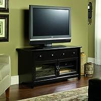 Sauder Edge Water Panel TV Stand, Estate Black Finish