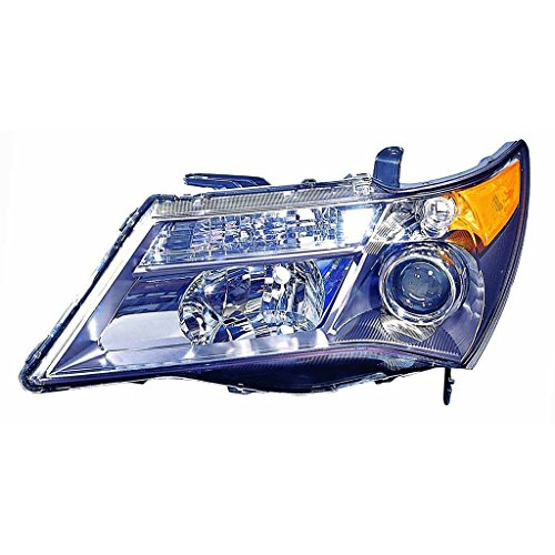 CarLights360: Fits 2007 2008 2009 ACURA MDX Head Light Assembly Driver Side HID Type (Black Housing) - (NSF Certified) Replacement for AC2518110 Acura Mdx Headlight Replacement
