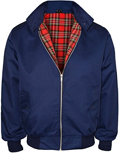 - Kentex Online Men's Harrington Retro Smart Classic Jacket Medium Navy