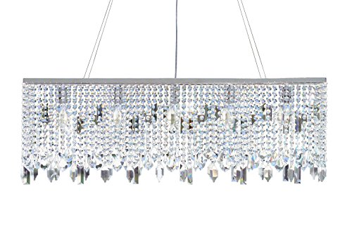 Chrome And Crystal Pendant Lighting in US - 5