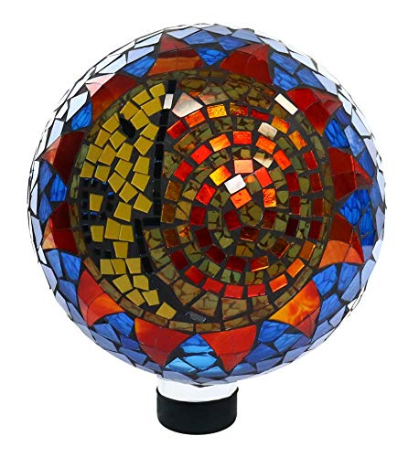 (Alpine HGY120 Mosaic Sun and Moon Gazing Globe, 12 Inch Tall Multi-Color)