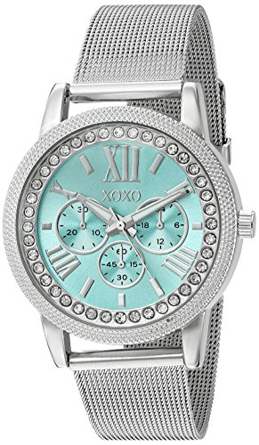XOXO Women's Quartz Metal and Alloy Watch, Color:Silver-Toned (Model: XO5899) (Quartz Metal Silver)