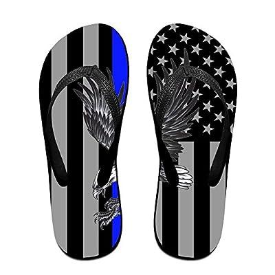 HXXUAN Unisex Non-slip Flip Flops Blue Thin Line Eagle Cool Beach Slippers Sandal