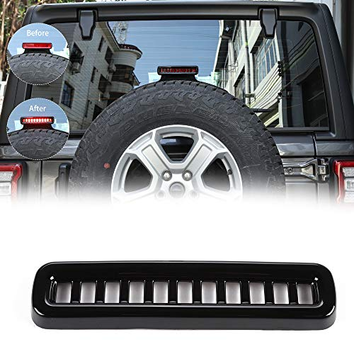 RT-TCZ Black Third Brake Light Cover Decal Accessories Decal for 2018 Jeep Wrangler -